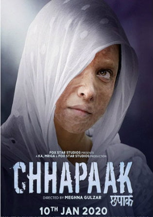Chhapaak 2020 Pre DVDRip 300MB Full Hindi Movie Download 480p Watch Online Free bolly4u