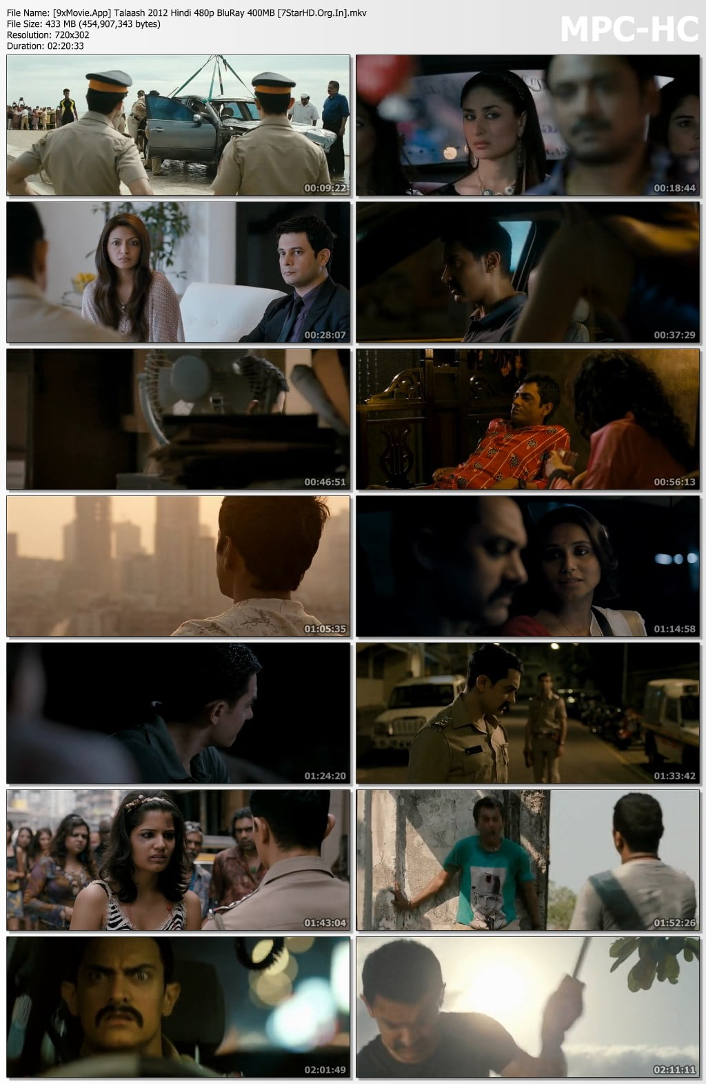 Talaash 2012 Hindi 480p BluRay x264 400MB