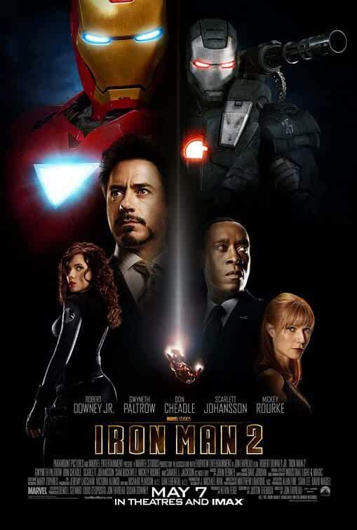 Don Cheadle, Robert Downey Jr., Gwyneth Paltrow, and Scarlett Johansson in Iron Man 2 (2010)
